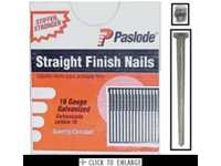"1-1/4"" Galvanized Finish Nails Straight Paslode 16GA"